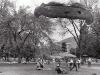 Parachuter lands on campus